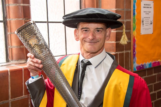 Tony after receiving his honorary degree